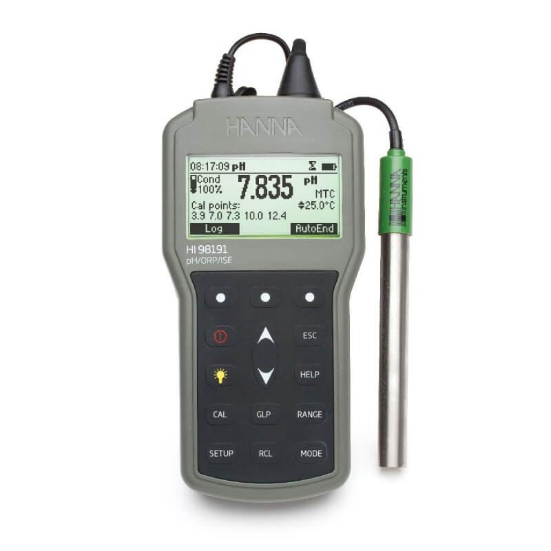 Hanna HI98191 pH, ORP og ISE-måler