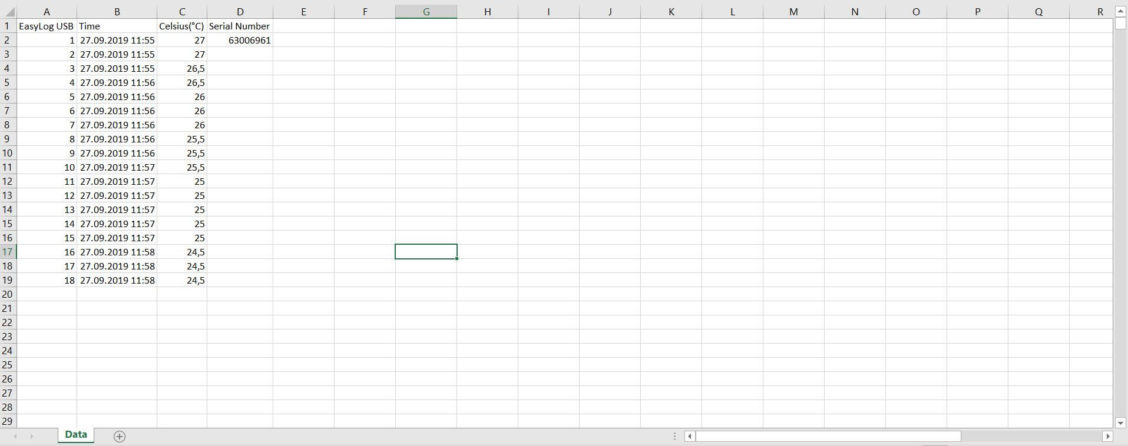 Excel tabell